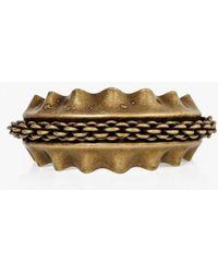 Nicole Romano - Chain Overlay Cuff Bracelet - Lyst