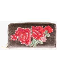 Azalea - Rose Embroidered Clutch - Lyst