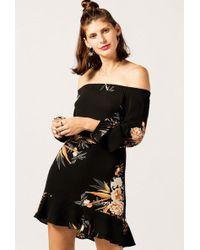 Azalea - Off Shoulder Tropical Dress - Lyst