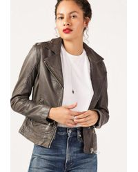 Doma Leather - Classic Zip Leather Jacket - Lyst