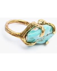 Unearthen - Dyrae Ring Turquoise Brass - Lyst