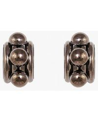 Nicole Romano - Arched Tube And Dome Earrings - Lyst