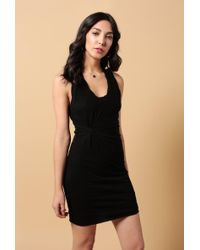 T By Alexander Wang - Bodycon Twisted Tank Dress - Lyst