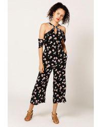Azalea - Floral Cropped Jumpsuit - Lyst