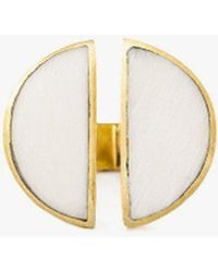 Soko - Split Moon Ring - Lyst