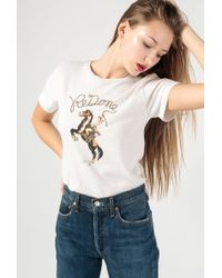 RE/DONE - Cowgirl Tee - Lyst