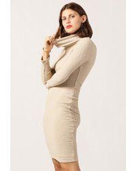 Azalea - Turtleneck Long Sleeve Midi Dress - Lyst