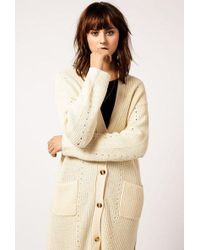 Azalea - Knit Long Cardigan - Lyst