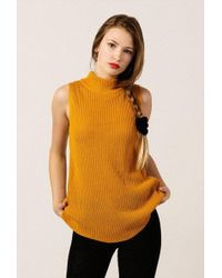 Azalea - Mock Rib Ss Sweater Top - Lyst