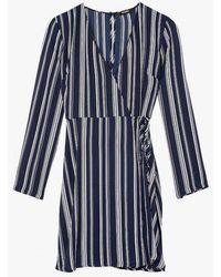 Azalea - Stripe Wrap Dress - Lyst