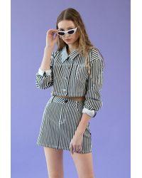 Azalea - Stripe Crop Jacket - Lyst
