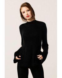 Azalea   Fuzzy Mock Neck Long Sleeve Sweater   Lyst