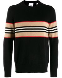 Burberry Contrasting Stripes Sweater - Black