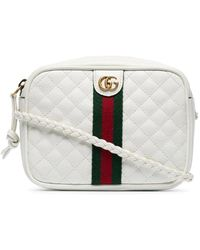 Gucci Shoulder Black Quilted Leather Off White