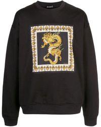 Versace Men's Sweatshirt Sweat Dragon A83533-a228146_a008 Black