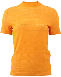 Carven | Geometric Knit T-shirt | Lyst