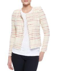 Etoile Isabel Marant Glenn Striped Tweed Jacket - Lyst