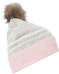 Lipsy | Fairisle Knitted Hat | Lyst