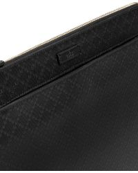 Gucci Bright Diamante Leather Portfolio - Black