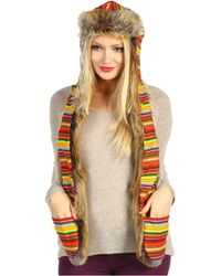 Spirit Hoods Red Fox Peruvian Festival Trapper - Lyst
