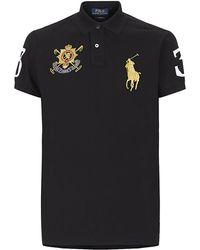 Polo Ralph Lauren Custom Fit Large Pony Crest Polo Shirt - Lyst