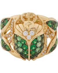 Aurelie Bidermann Scarab Beetle Ring - Lyst