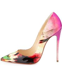 Christian Louboutin So Kate Tie-dye Patent Red Sole Pump - Lyst