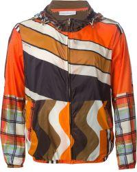Pierre Louis Mascia - Printed Hooded Sport Jacket - Lyst