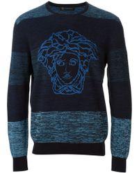 Versace Medusa Intarsia Sweater - Lyst