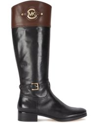 Michael Kors - Stockard Two-tone Leather Boots - Lyst