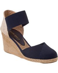 Andre Assous Anouka Mid Espadrille Navy Fabric blue - Lyst