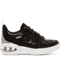 Marc By Marc Jacobs Black Star Swirl Embossed Platform Sneakers - Lyst