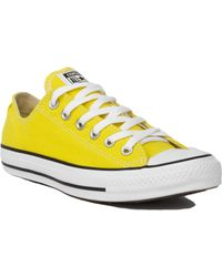 Converse Chuck Taylor All Star Classic Low Top Sneakers In Citrus - Lyst