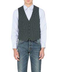 Golden Goose Deluxe Brand Quilted Tweed Waistcoat Indigo Check - Lyst