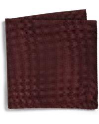 Armani Neat Dot Silk Pocket Square - Lyst