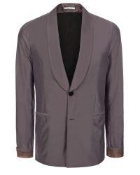 Paul Smith Mauve Cotton-Silk Blend Shawl Collar Blazer - Lyst