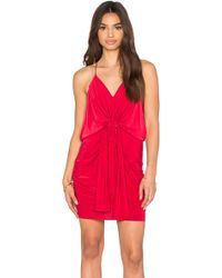 T-bags - Domino Tie Front Micro Mini Dress - Lyst