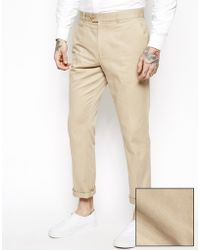 Asos Slim Fit Smart Chino Trousers - Lyst