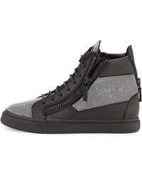 Giuseppe Zanotti Studded Leather High-Top Sneaker - Lyst