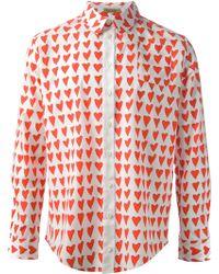 Peter Jensen - Heart Print Shirt - Lyst
