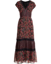 Anna Sui Printed Silk Chiffon Maxi Dress - Lyst