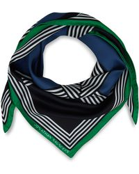 Jonathan Saunders Blue Woven Striped Silk Scarf - Lyst