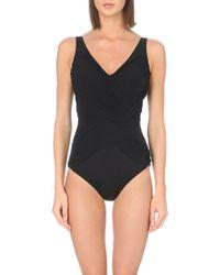 Gottex Black Lattice Swimsuit - Lyst