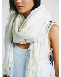 Free People Womens Mercer Woven Oversized Scarf - Lyst