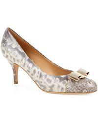 Ferragamo Monroe T-Strap Sandals - Lyst