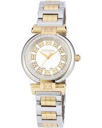 ESCADA - Stainless Steel Two-Hand Lauren Watch W/ Ion Gold - Lyst