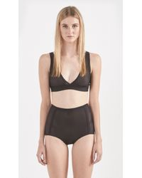 Land Of Women Deep V Bra black - Lyst