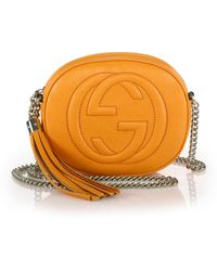 Gucci Soho Leather Mini Bag yellow - Lyst