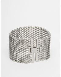 Pieces - Did Wide Chain Bracelet - Lyst