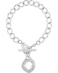 Slane - Signature-charm Silver Nugget Bracelet - Lyst